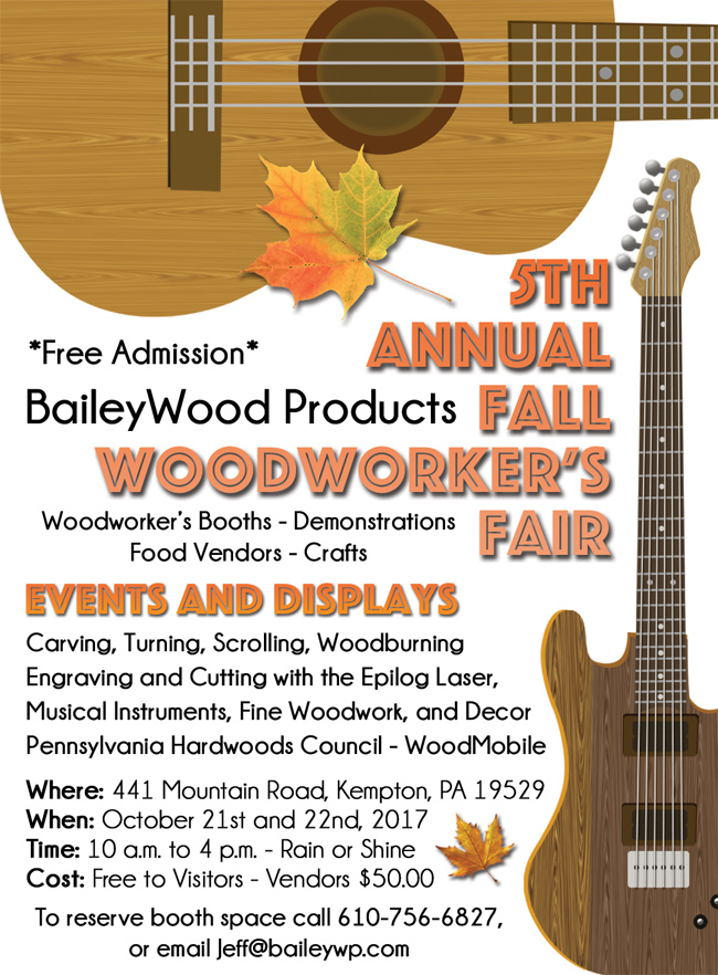 Bailey Wood Products 2017 Fall Woodworker's Fair