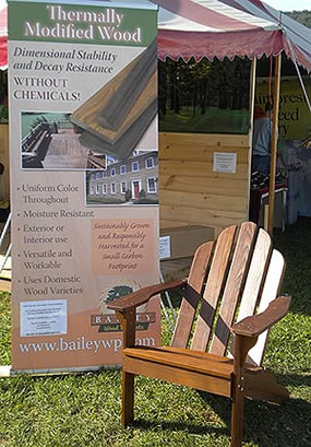 Thermally Modified Wood Adirondack Chair