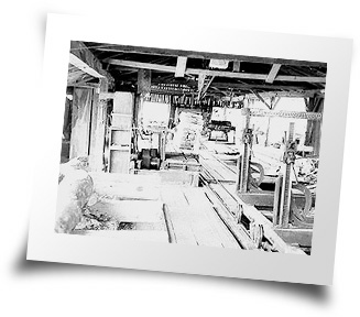Photo of one of the old sawmill set-ups