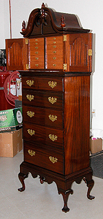 Photo of Walt Segl's Lengerie Cabinet made out of African Mahogany