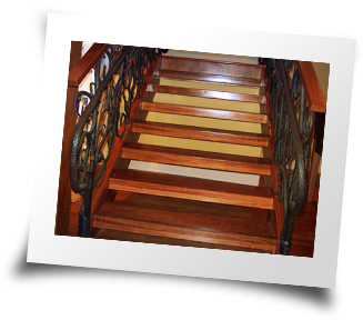 Photo of custom made Jatoba Stair Treads